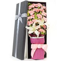 母爱至深-19支粉色康乃馨