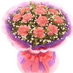 幸福安康-11支粉色康乃馨