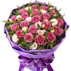 为你痴狂-19支精品紫玫瑰