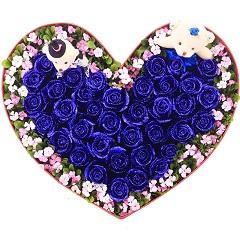 心的礼物-37支精品蓝色妖姬