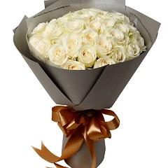 恰似你的温柔-33支精品白玫瑰