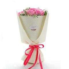 浪漫邂逅-9支精品粉玫瑰