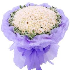 纯洁的爱-99支精品白玫瑰