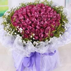 紫水晶-99支精品紫玫瑰