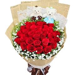 燃烧的爱-33支精品红玫瑰