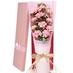 无声的爱-11支精品粉色康乃馨