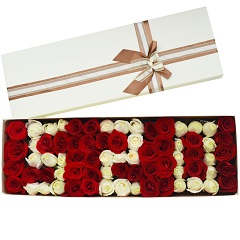 爱你一万年-75支精品混色玫瑰