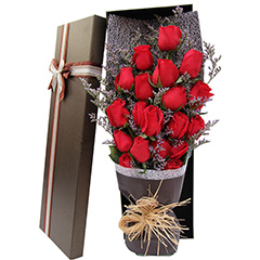 幸福满载-19支精品红玫瑰