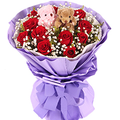 知情盛芳-11支精品红玫瑰