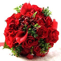 富贵满堂红-新娘手捧花