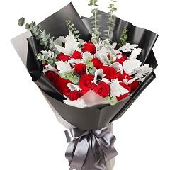 美丽无限-19支精品红玫瑰