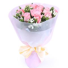 爱永恒-11支精品粉玫瑰
