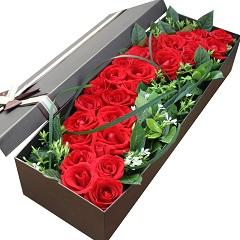 鹊桥恋-25支精品红玫瑰