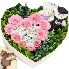 小幸福-10支精品粉玫瑰