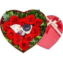 完美的一天-10支精品红玫瑰