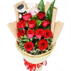 无法不爱你-11支精品红玫瑰