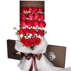 幸福的微笑-19支精品红玫瑰