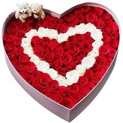 笑容永存-99支精品混色玫瑰