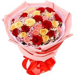 时刻思念-33支精品混色玫瑰