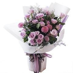 幸福的约定-19支精品紫玫瑰