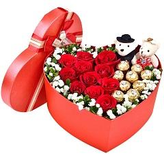 幸福起航-11支红玫瑰+9颗巧克力