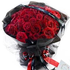 咖啡心情-33支精品红玫瑰