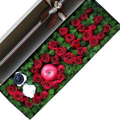 小仙女-33支精品红玫瑰+1颗苹果