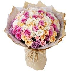 浪漫一刻-99支精品混色玫瑰