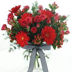 生命中的太阳-10枝扶郎+6枝多头小玫瑰