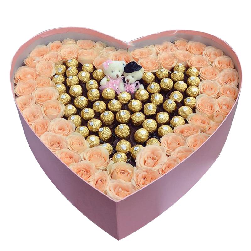 爱的绽放-60支精品香槟+58颗巧克力礼盒