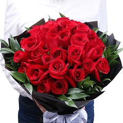 时刻爱你-33支精品红玫瑰