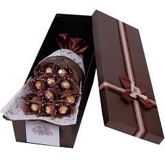 幸福的感觉-11颗巧克力花盒