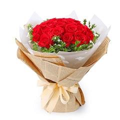爱的芬芳-21支精品红玫瑰