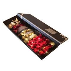 恋爱心语-19支红玫瑰+11颗巧克力(带灯发光)