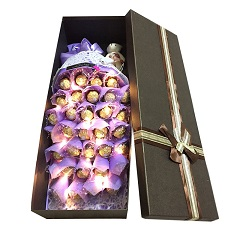 意中人-33颗巧克力礼盒(带灯发光)