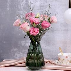 梦中人-粉玫瑰+粉色洋桔梗混搭