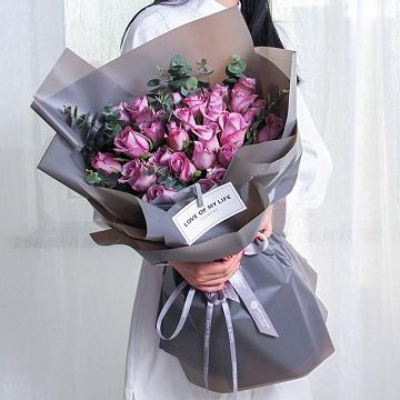 紫霞仙子-33支紫玫瑰