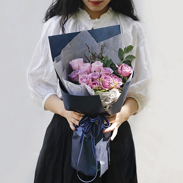 紫色魅影-11支精品紫玫瑰