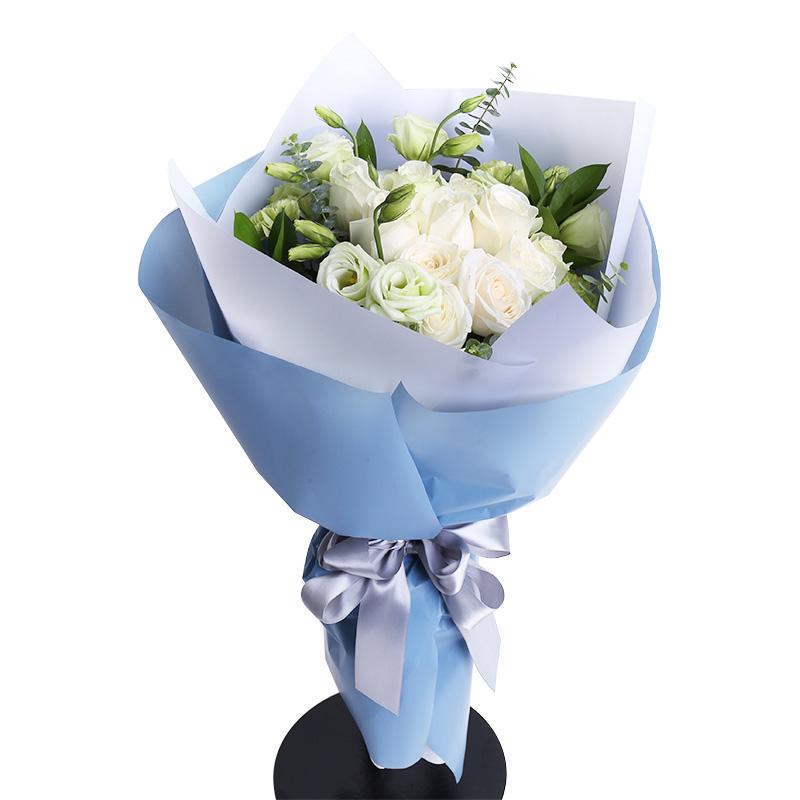 一米阳光-9支精品白玫瑰