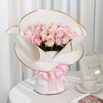 暖暖记忆-33支精品粉玫瑰
