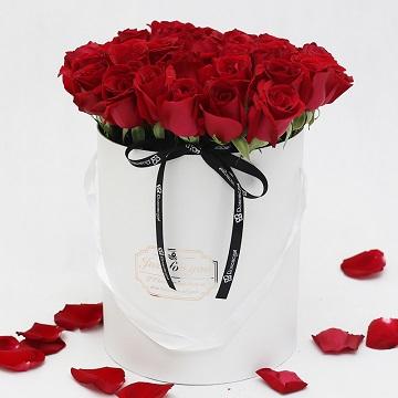 不朽的爱-33支精品红玫瑰抱抱桶