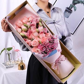 相信者的幸福-19支精品粉玫瑰