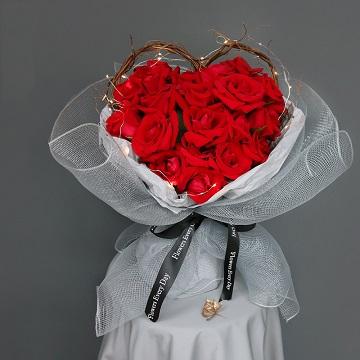 爱你一生-19支精品红玫瑰(带灯发光)