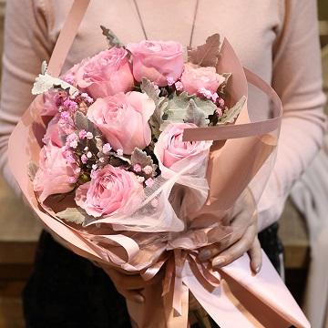 许下心愿-9支精品粉玫瑰