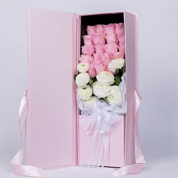 玫瑰骑士-19支精品粉玫瑰