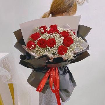 花成蜜就-11支精品红玫瑰